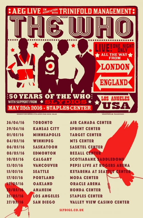 Slydigs to Support The Who on U.S tour 2016